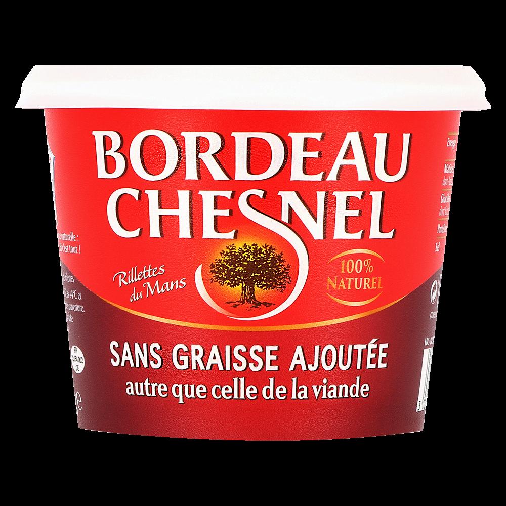 Rillette pur porc sans graisse, Bordeau Chesnel (220 g)