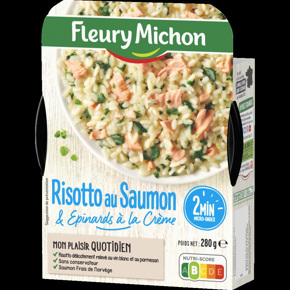 Risotto saumon épinards, Fleury Michon (280 g)