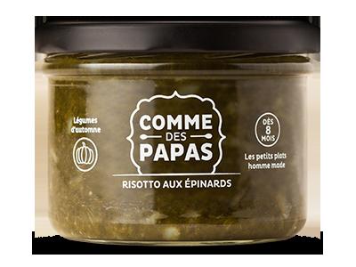 Risotto aux épinards BIO - 8 mois, Comme des papas (180 g)