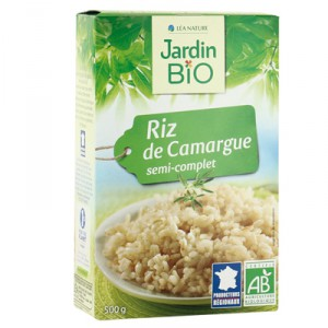 Riz de camargue semi-complet IGP BIO, Jardin Bio (500 g)