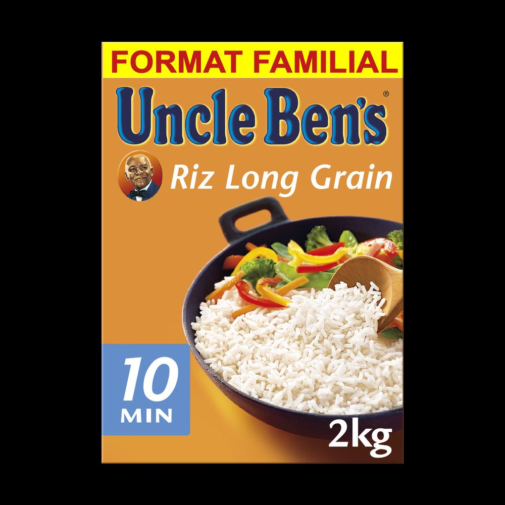 Riz long grain cuisson 10 min, Uncle Ben's (2 kg)