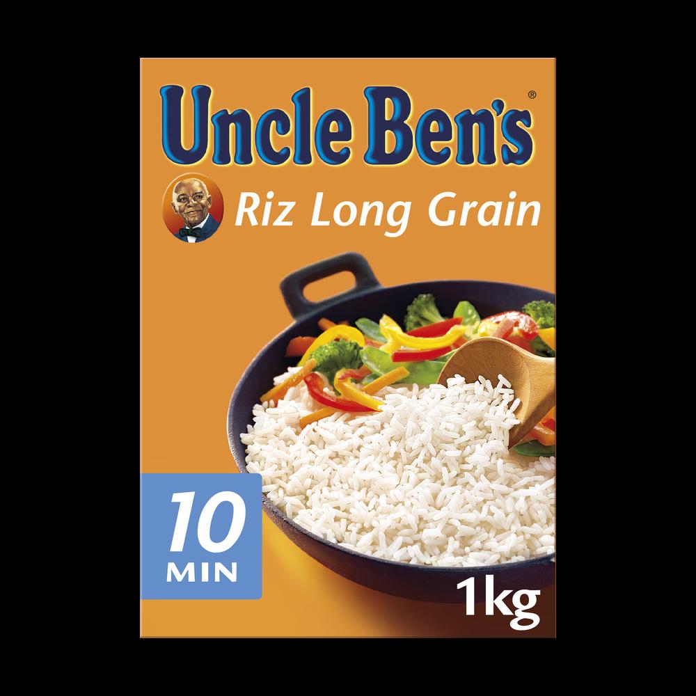 Riz long grain cuisson 10 min, Uncle Ben's (1 kg)