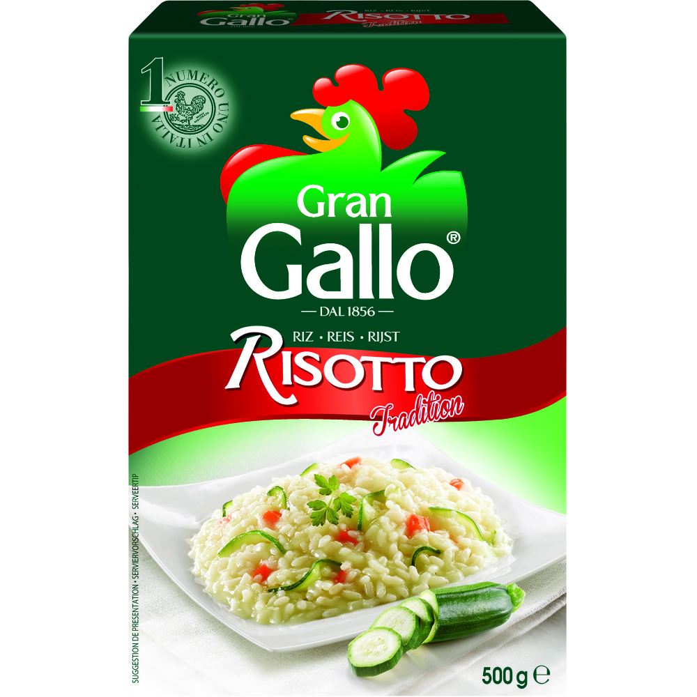 Riz pour risotto gran, Riso Gallo (500 g)