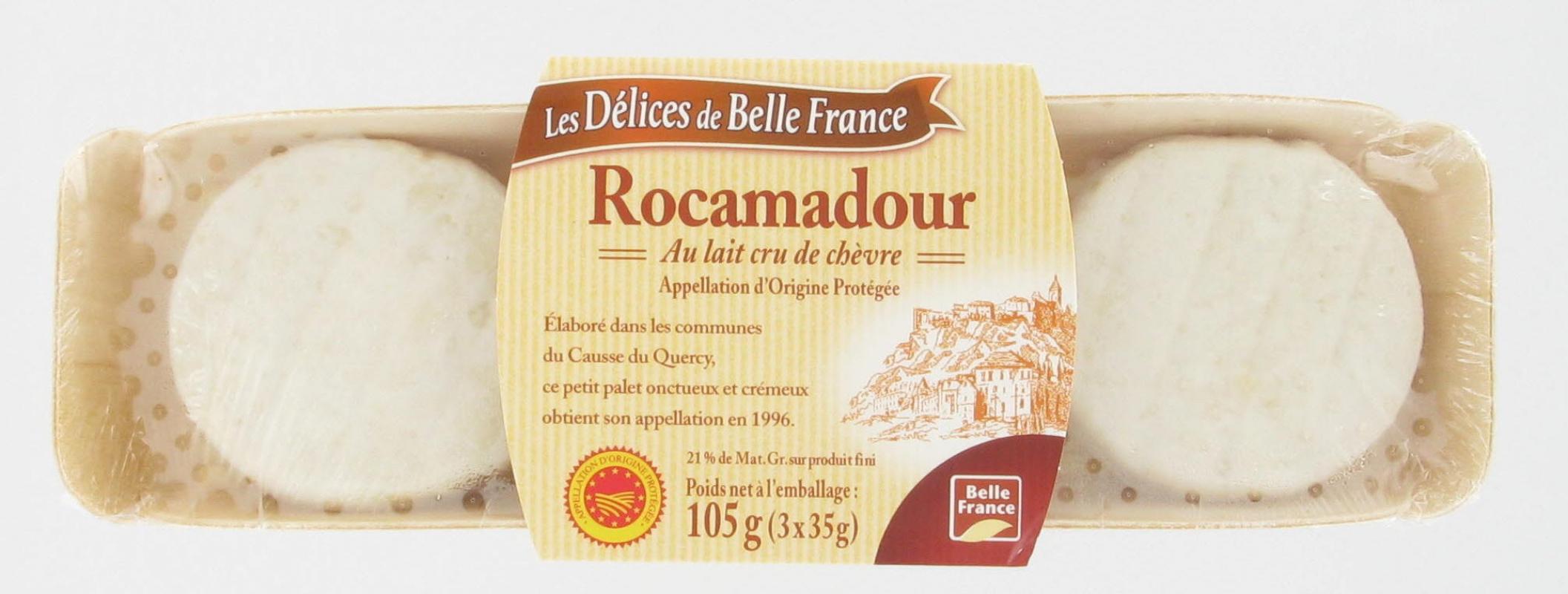 Rocamadour AOP, Les Délices de Belle France (3 x 35 g)