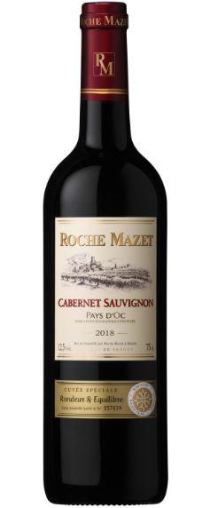 Pays d'Oc IGP cabernet Sauvignon cuvée spéciale Roche Mazet 2018 (75 cl)