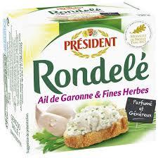 Rondelé ail et fines herbes, Président (125 g)