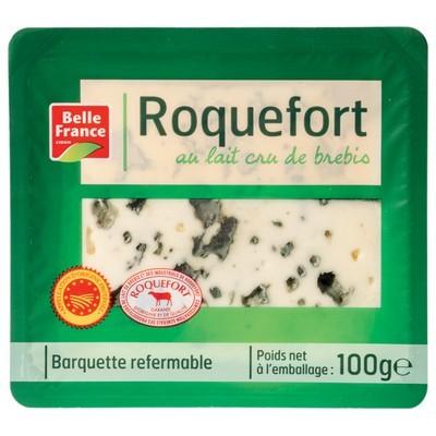 Roquefort AOC en tranche BIO, Belle France (100 g)