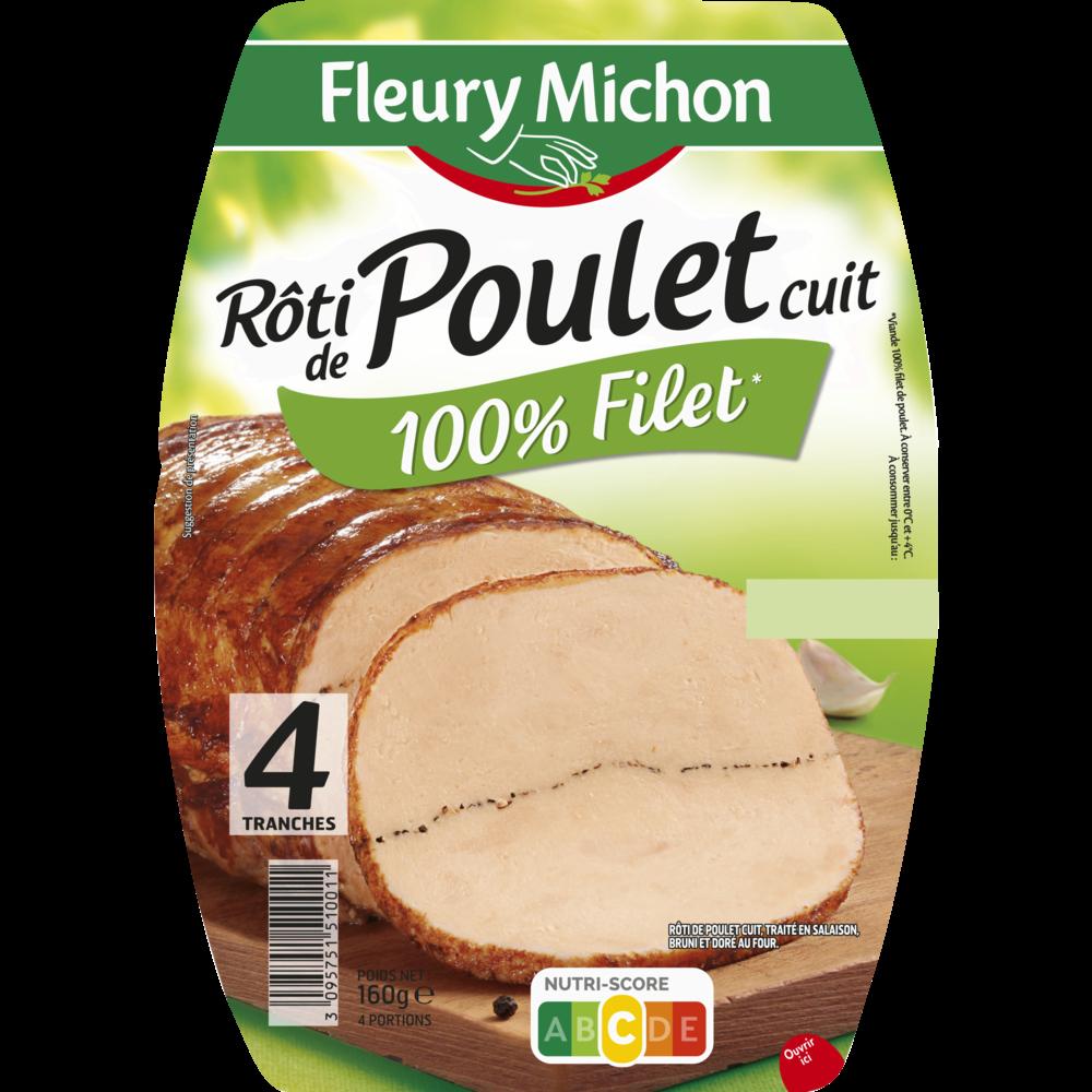 Rôti de poulet cuit Fleury Michon (4 tranches, 160 g)