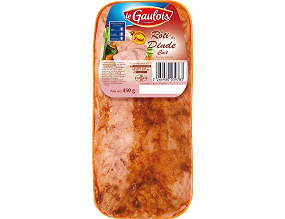 Roti de dinde cuit, Le Gaulois (450 g)
