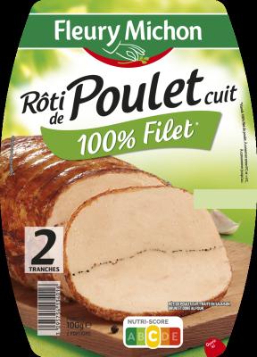 Rôti de Poulet, Fleury Michon (2 tranches, 100 g)