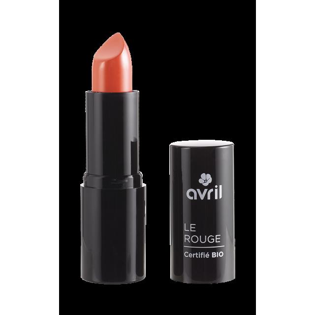 Rouge à lèvres terracotta n° 676 certifié BIO, Avril