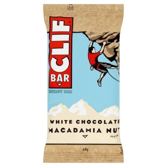Barre au chocolat blanc et noix de macadamia, Clif (68 g)