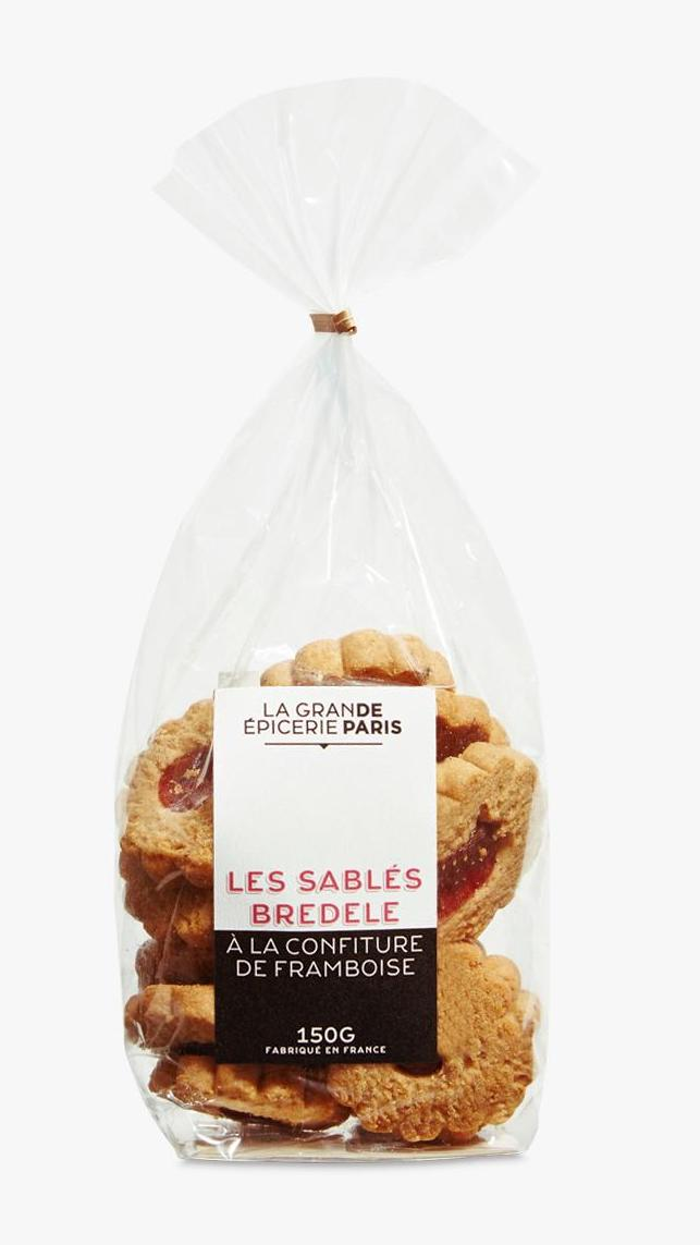 Sablés Bredele à la confiture de framboise, La Grande Epicerie de Paris (150 g)
