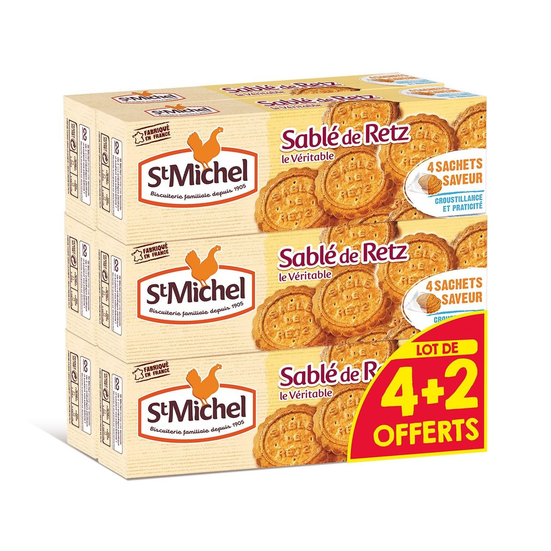 Sablés de Retz, St Michel LOT DE 4 + 2 offerts (6 x 120 g)