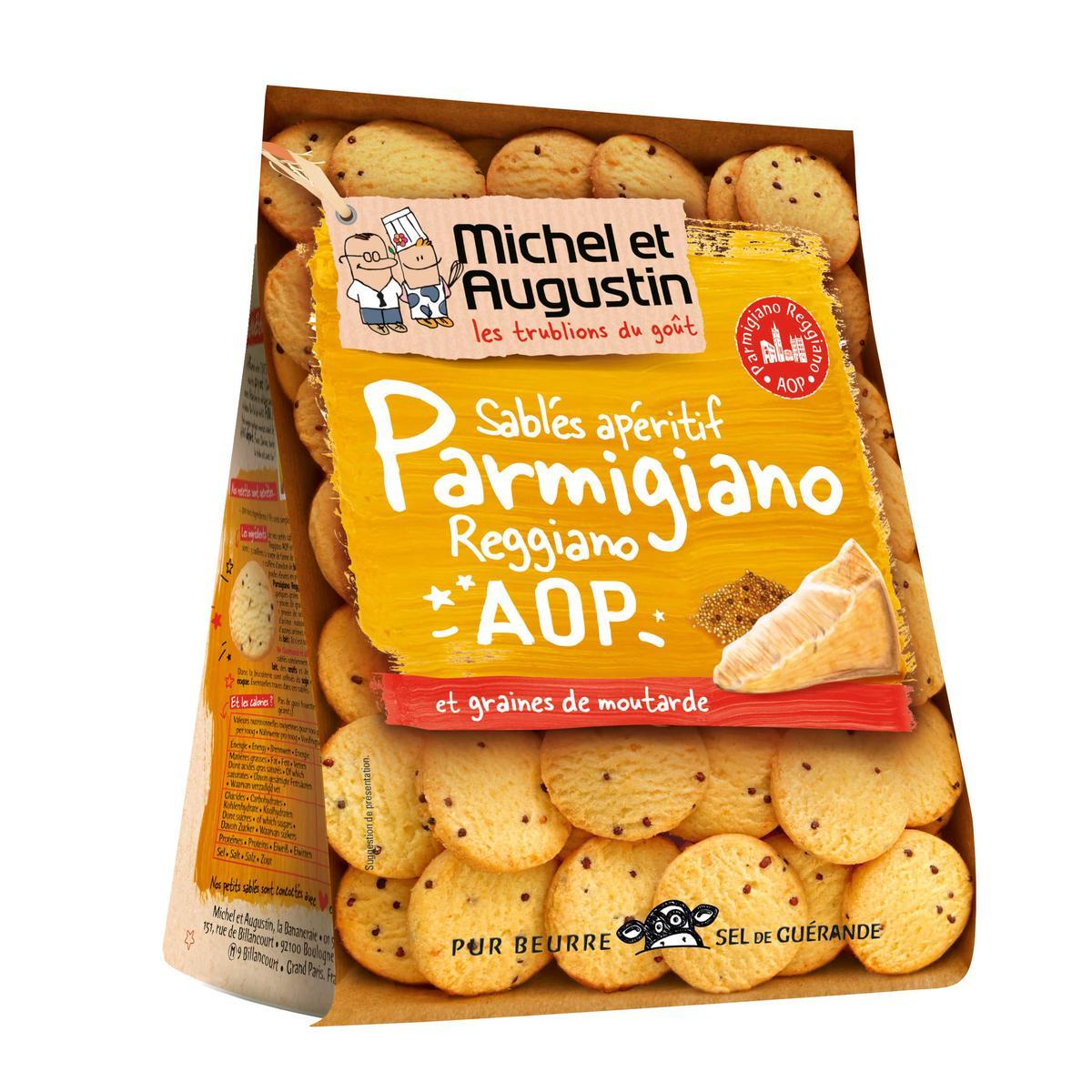 Sablé parmesan et moutarde, Michel et Augustin (120 g)