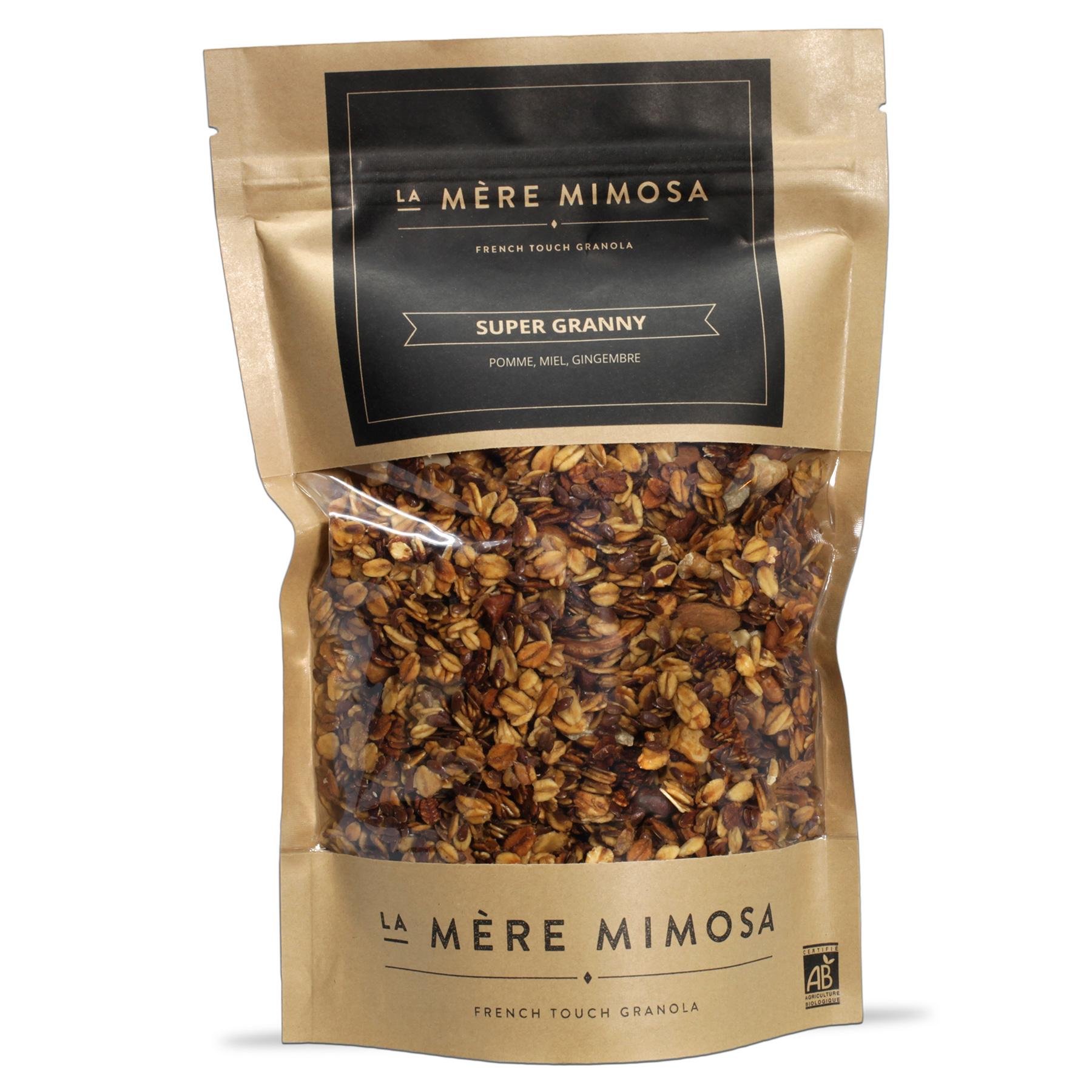 """Granola artisanal """"Super Granny"""", La Mère Mimosa (350 g)"""