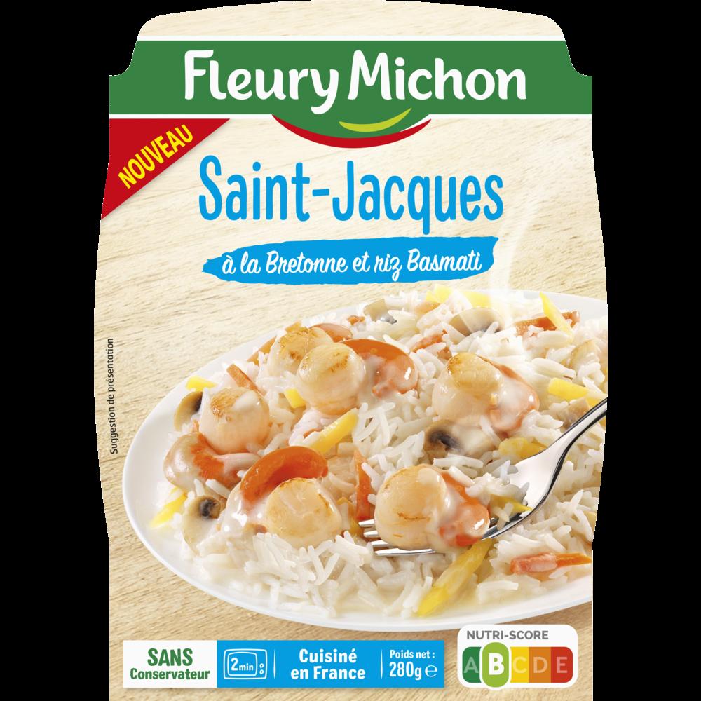 Saint jacques à la Bretonne et riz basmati, Fleury Michon (280 g)