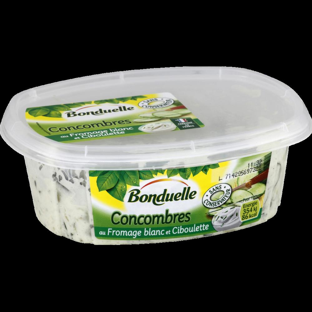 Salade de concombres au fromage blanc et ciboulette, Bonduelle (300 g)