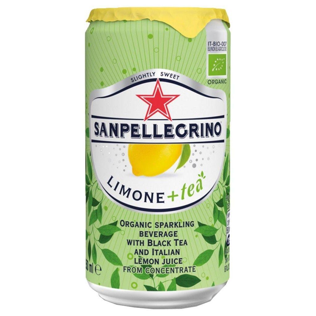 San Pellegrino à l'extrait de thé et au jus de citron BIO (25 cl)