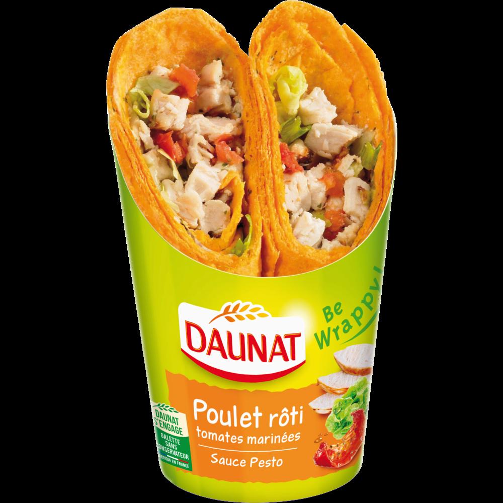 Wrap poulet rôti, Daunat (190 g)