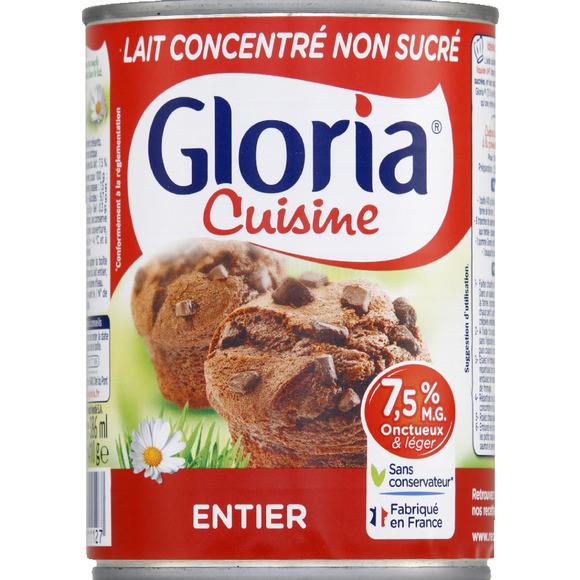 Lait concentré non sucré, Gloria (3 x 410 g)