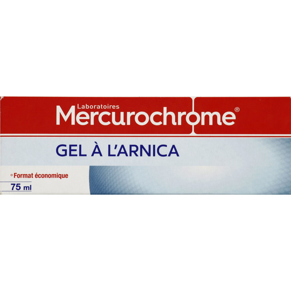 Gel à l'arnica, Mercurochrome (75 ml)