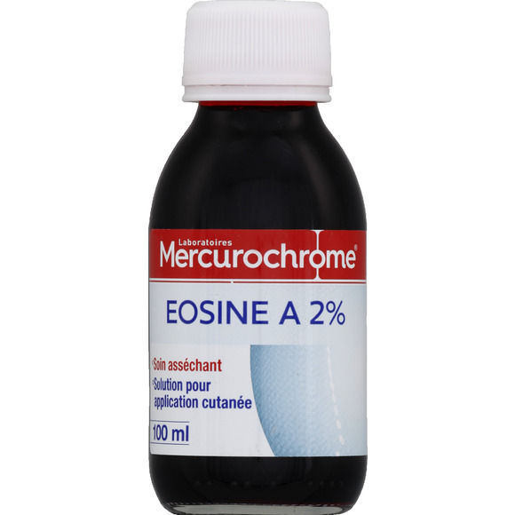 Eosine à 2%, Mercurochrome (100 ml)