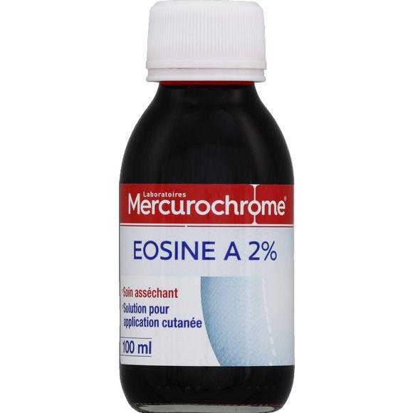Eosine à 2%, Mercurochrome (100 ml)