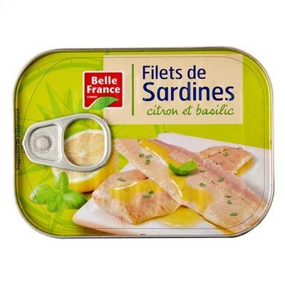 Filet de sardines citron et basilic, Belle France (100 g)