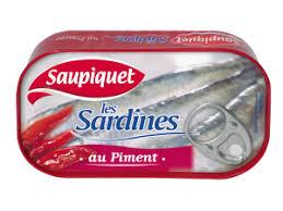 Sardines entières au Piment, Saupiquet (120 g)
