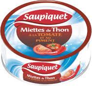 Miettes de thon Tomate & Piment, Saupiquet (160 g)