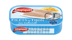 Filets de Thon Naturel, Saupiquet (80 g)