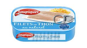 Filets de Thon Naturel, Saupiquet (80 g)