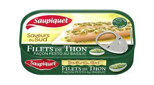 Filets de Thon façon Pesto au Basilic, Saupiquet (115 g)