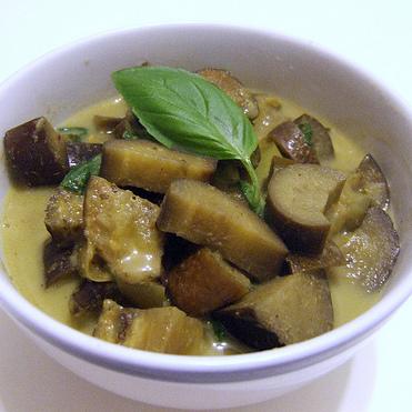Sauce au curry vert et aubergines thaï maison (200 g)