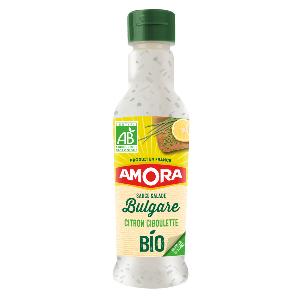 Sauce crudité à la bulgare citron ciboulette BIO, Amora (210 ml)