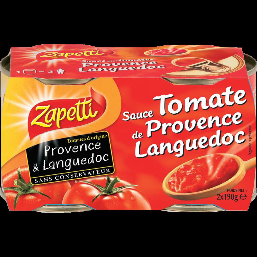 Sauce tomates, Zapetti (2 x 190 g)