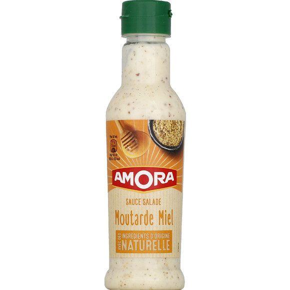 Sauce salade moutarde et miel, Amora (210 ml)