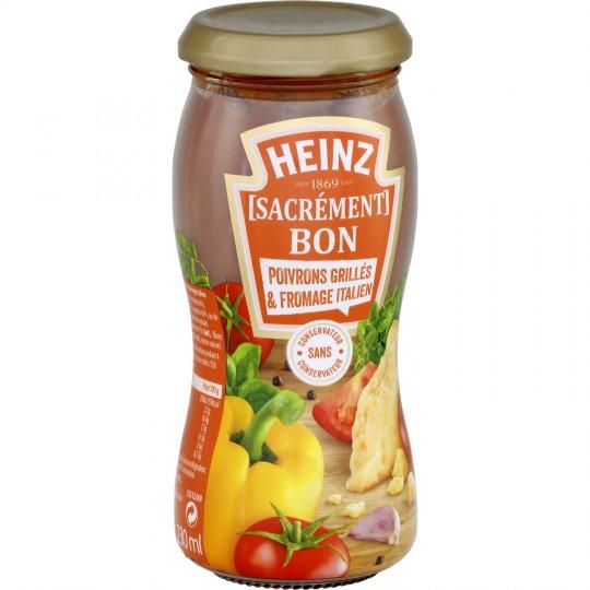 Sauce poivrons grillés et fromage italien, Heinz (240 g)
