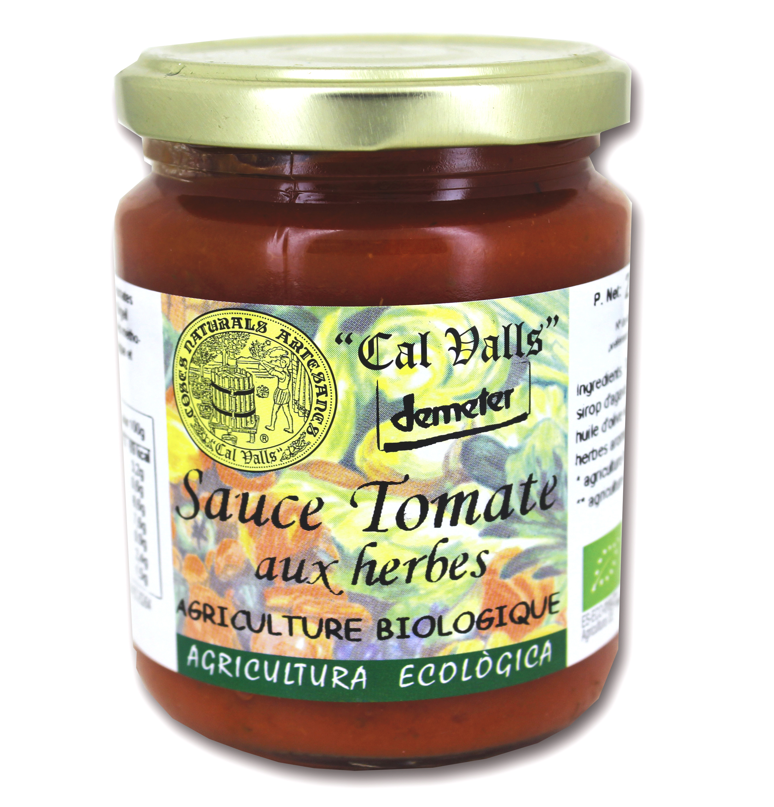 Sauce tomate aux herbes Bio, Cal Valls (270 g)