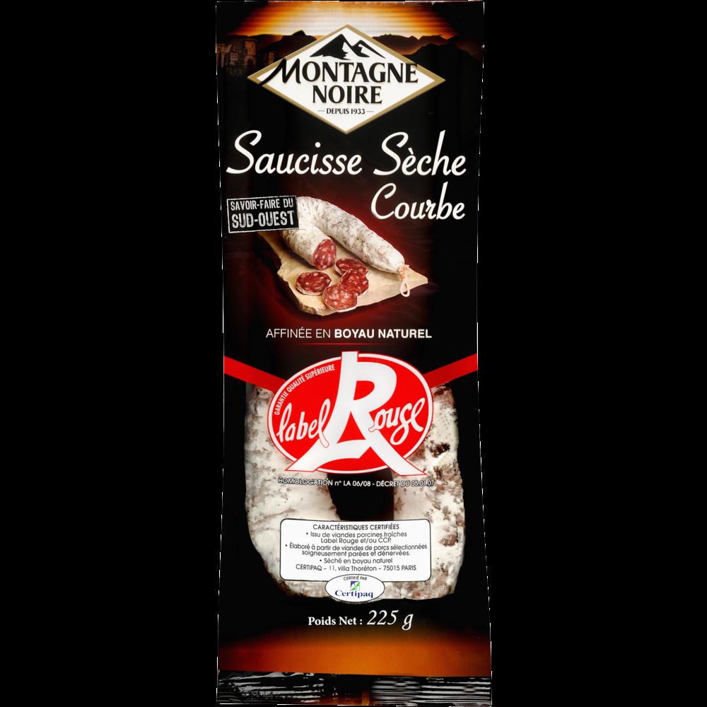 Saucisse courbe sèche pli Label Rouge, Montagne Noire (225 g)