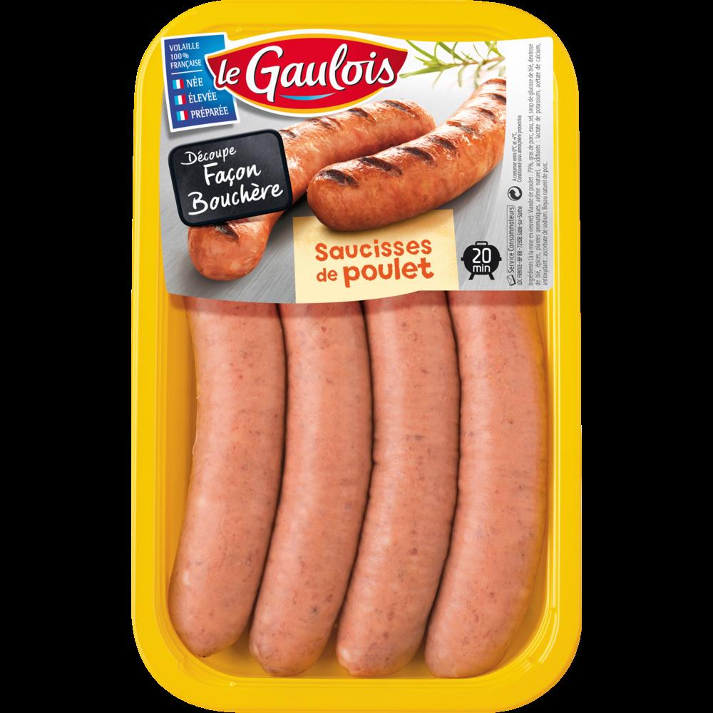 Saucisses de poulet, Le Gaulois (x 4, 320 g)