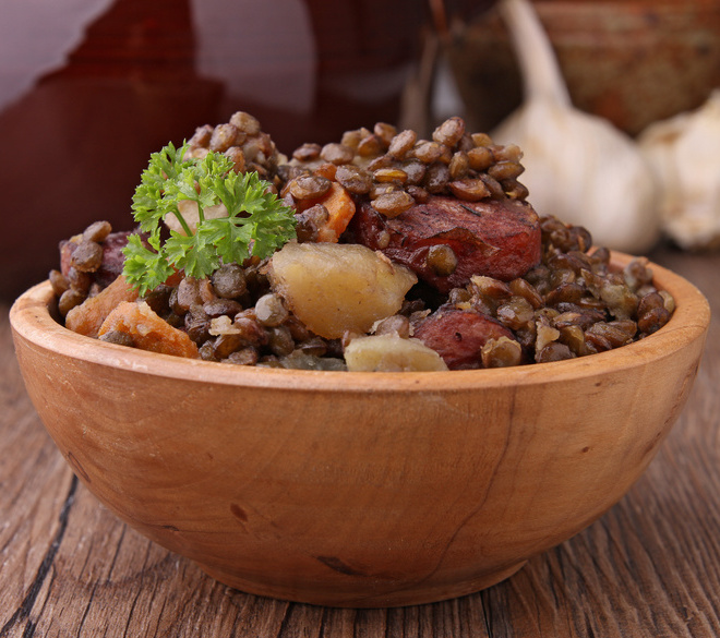 Kit Lentilles vertes du Berry et saucisse de Morteau (pour 4-6 personnes)