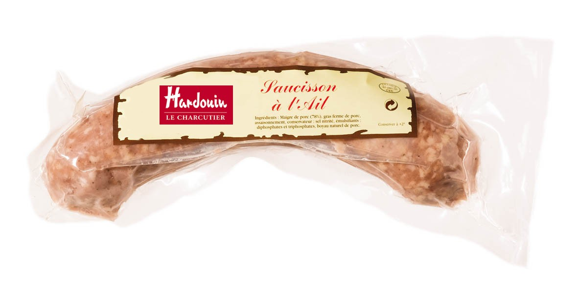 Saucisson à l'ail, Hardouin (env 220 g)