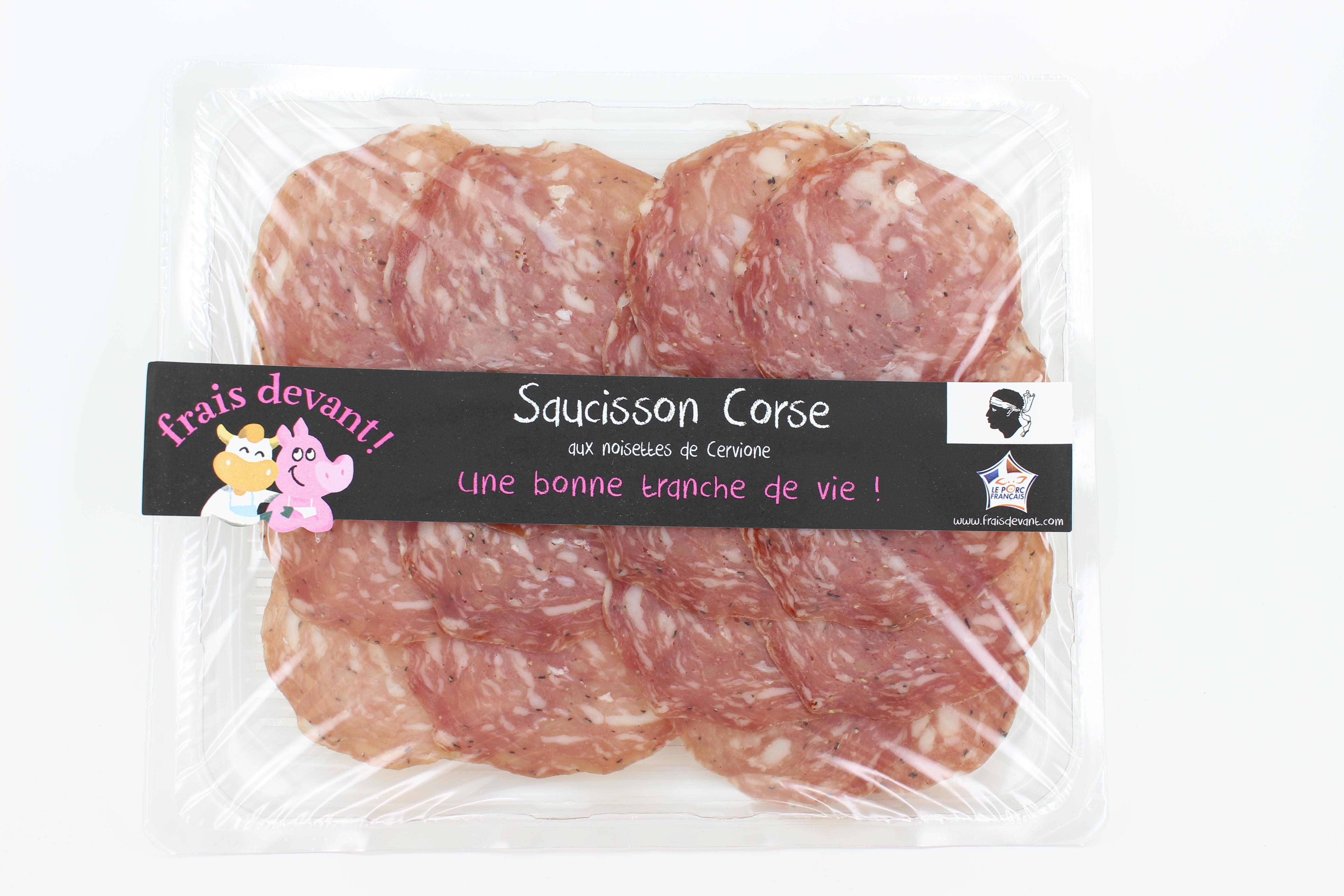 Saucisson sec Corse à la noisette (80 g)