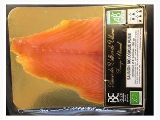 Saumon fumé BIO Irlande ou Ecosse selon arrivage, Fumoir des Vallons (80 g)