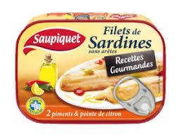 Filet de sardines recette gourmande 2 Piments/sans arêtes, Saupiquet (100 g)