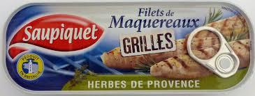 Filets de maquereaux Grillés Herbes de Provence, Saupiquet (120 g)