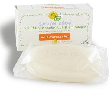 Savon Bébé à l'huile d'abricot BIO, La Cigale (100 g)