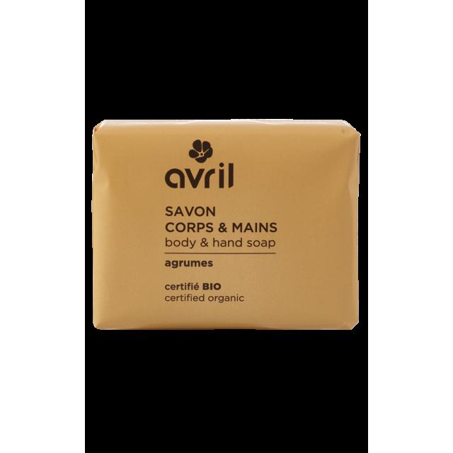 Savon corps & mains agrumes certifié BIO, Avril (100 g)